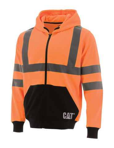 HI VIS FULL ZIP COLOURBLOCK HOODIE