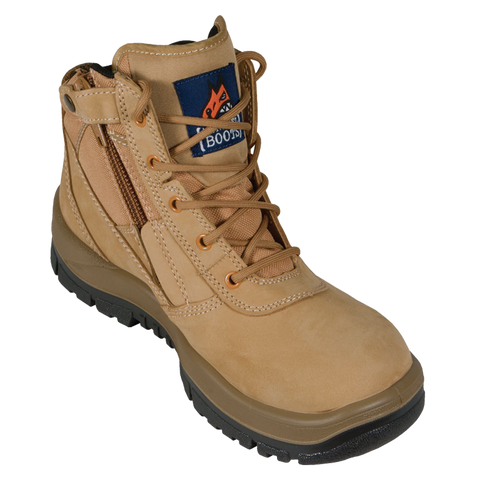 Wheat Zip Side Safety Boot