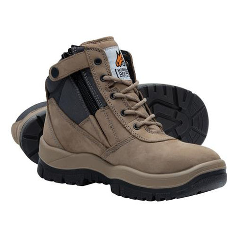 Stone Zip Side Safety Boot