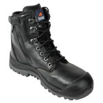 Black Zip Side L/U Safety Boot