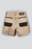 TRADIE MENS FLEX SLIM S/L SHORT
