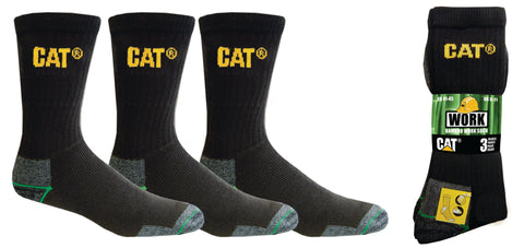 CAT BAMBOO CREW SOCK 3PACK