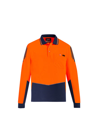Mens Hi Vis Flux LS Polo