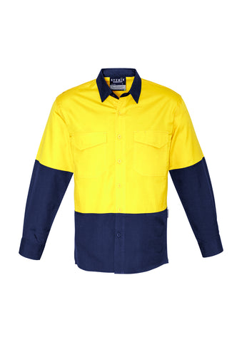 Mens Rugged Cooling Hi-Vis Spliced L/S