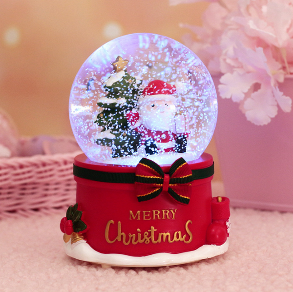 Christmas Crystal Ball Music Box