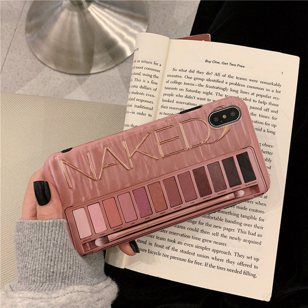 Make-up eye shadow palette mobile phone case