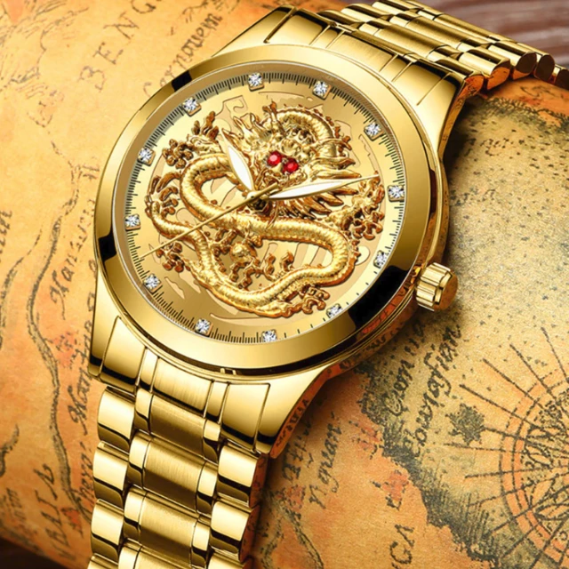 (50%OFF)TREDFASHIONS LUXURY ANTI-SCRATCH & WATERPROOF DRAGON WATCH 2019!