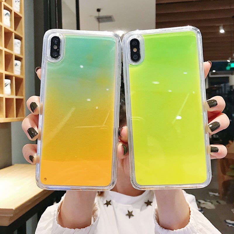 (50%OFF)flowing sand phone case luminous effect