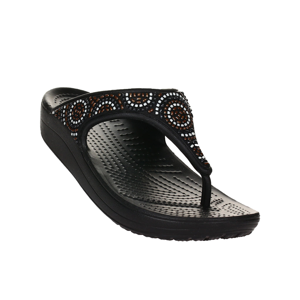 Crocs Women's Sloane Embellished Beaded Flip