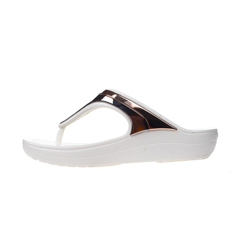 Crocs Women's Sloane Metal Block Flip