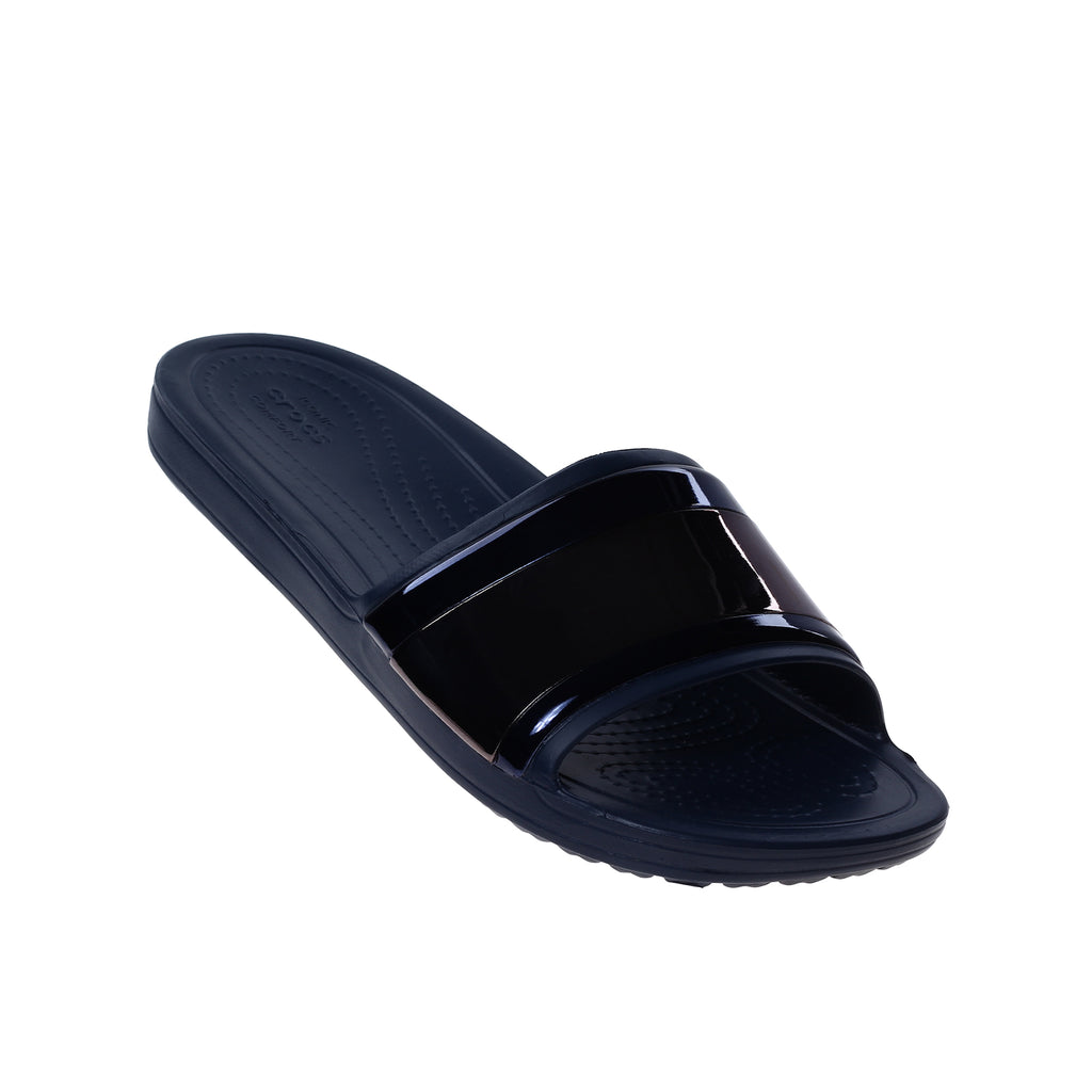 Crocs Women's Sloane Metal Block Slide