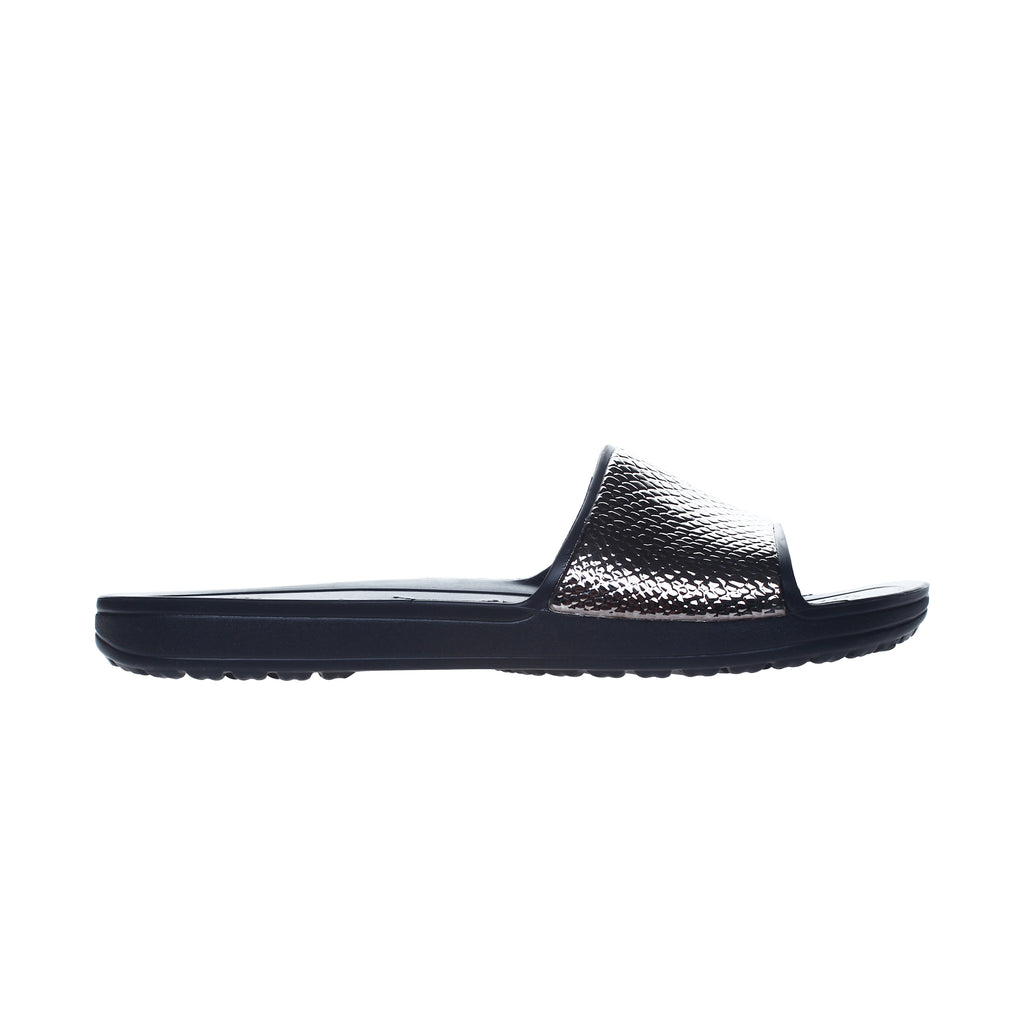 Crocs Women's Sloane Metal Text Slide