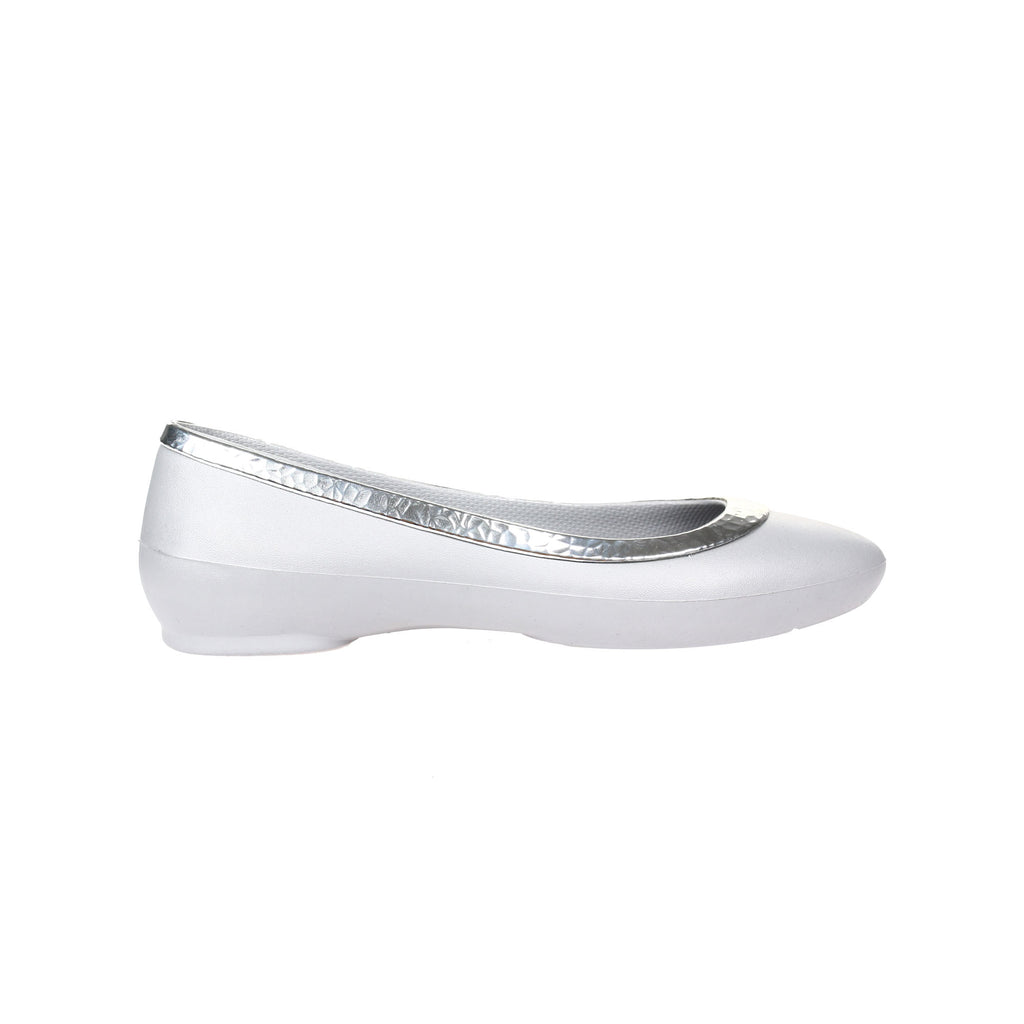 Crocs Women's Lina Hammered Metal Flat