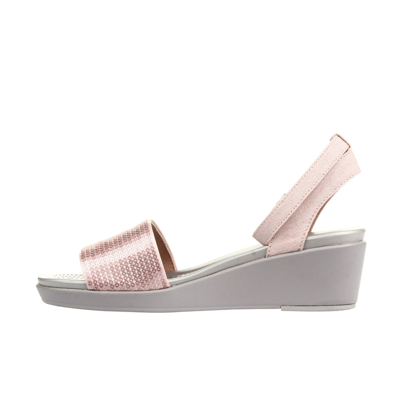 Crocs Women's LeighAnn Ankle Strap Sequin Wedge