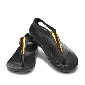 Crocs Women's Serena Metallic Bar Flip