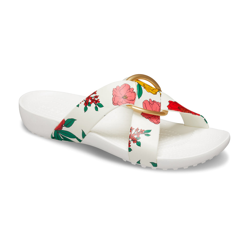 Crocs Women's Serena Printed Crossband Slide
