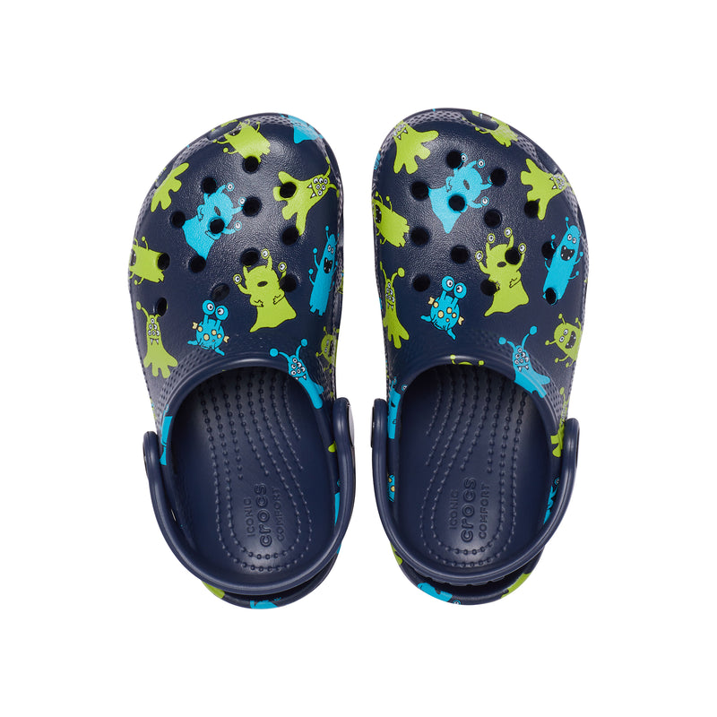 Crocs Kids Classic Monster Print Clog