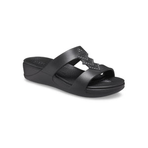 Crocs Women's Monterey Shimmer Slip On Wedge