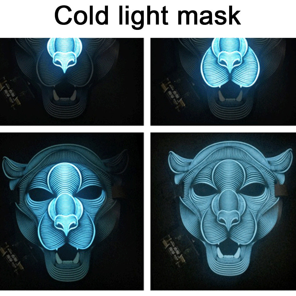 Voice activated LED Mask