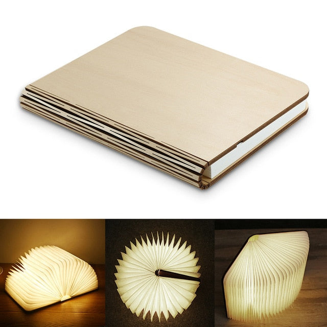 LED Magnetic Wooden Lamp📖