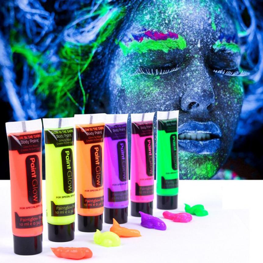 Glow in the Dark Face Paint: Pack of 6