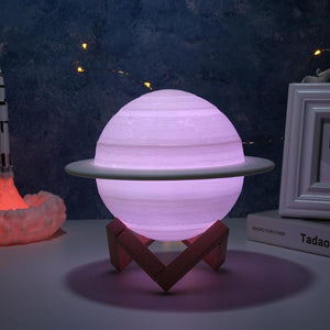 3D Print Saturn LED Night Lamp🪐