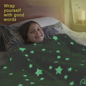 Glow-in-the-Dark Fluffy Blanket