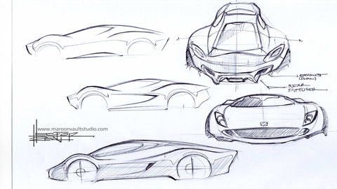 Automotive Design Theme Sketch Study