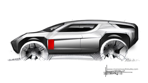 Side View Sport Crossover Sketch
