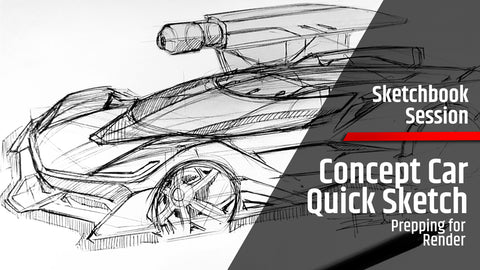 Concept Car Quick Sketch | Digital Render Prep