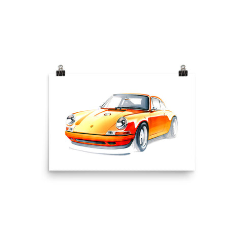 911 Singer | Poster - Reproduction of Original Artwork by Our Designers - MAROON VAULT STUDIO