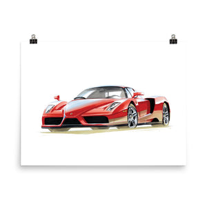 Enzo | Poster - Reproduction of Original Artwork by Our Design Team - MAROON VAULT STUDIO