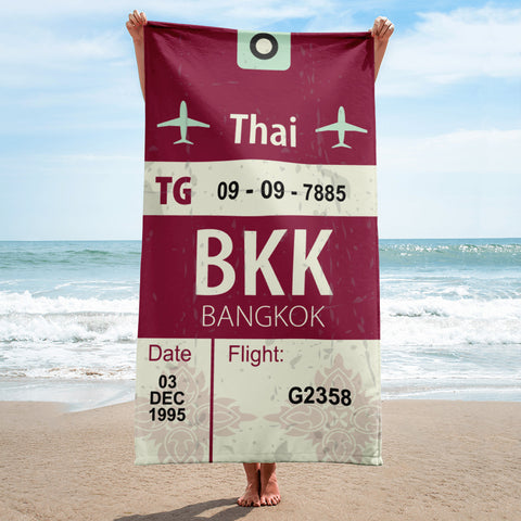 Bangkok Luggage Tag | Beach Towel - MAROON VAULT STUDIO