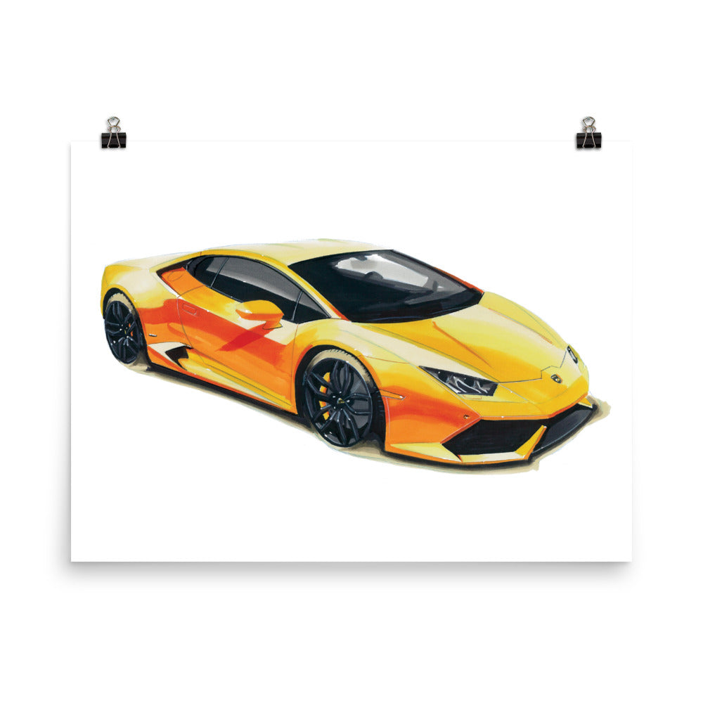 Huracan | Poster - Reproduction of Original Artwork by Our Designers - MAROON VAULT STUDIO