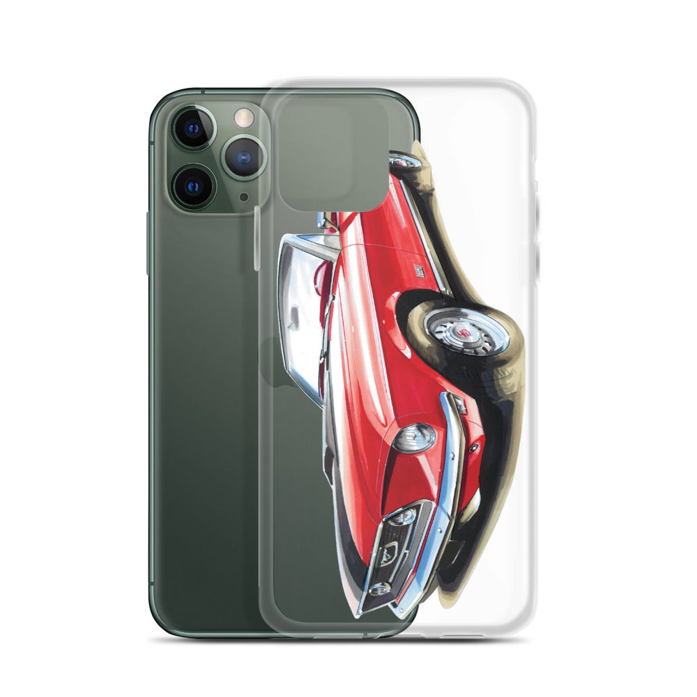 CLassic Mustang Convertible [Red] iPhone Case
