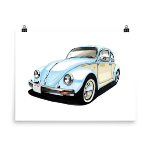 Bug Poster [Light Blue] | Reproduction of Original Artwork by Our Design Team - MAROON VAULT STUDIO