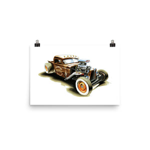 Rat Rod | Poster - Reproduction of Original Artwork by Our Designers - MAROON VAULT STUDIO