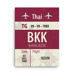 Bangkok Luggage Tag | Canvas Print - MAROON VAULT STUDIO