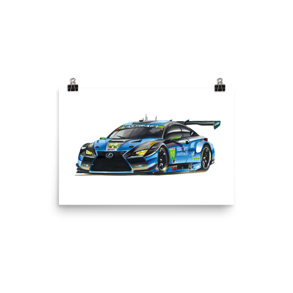 GT3 Race Car | Poster - Reproduction of Original Artwork by Our Designers - MAROON VAULT STUDIO