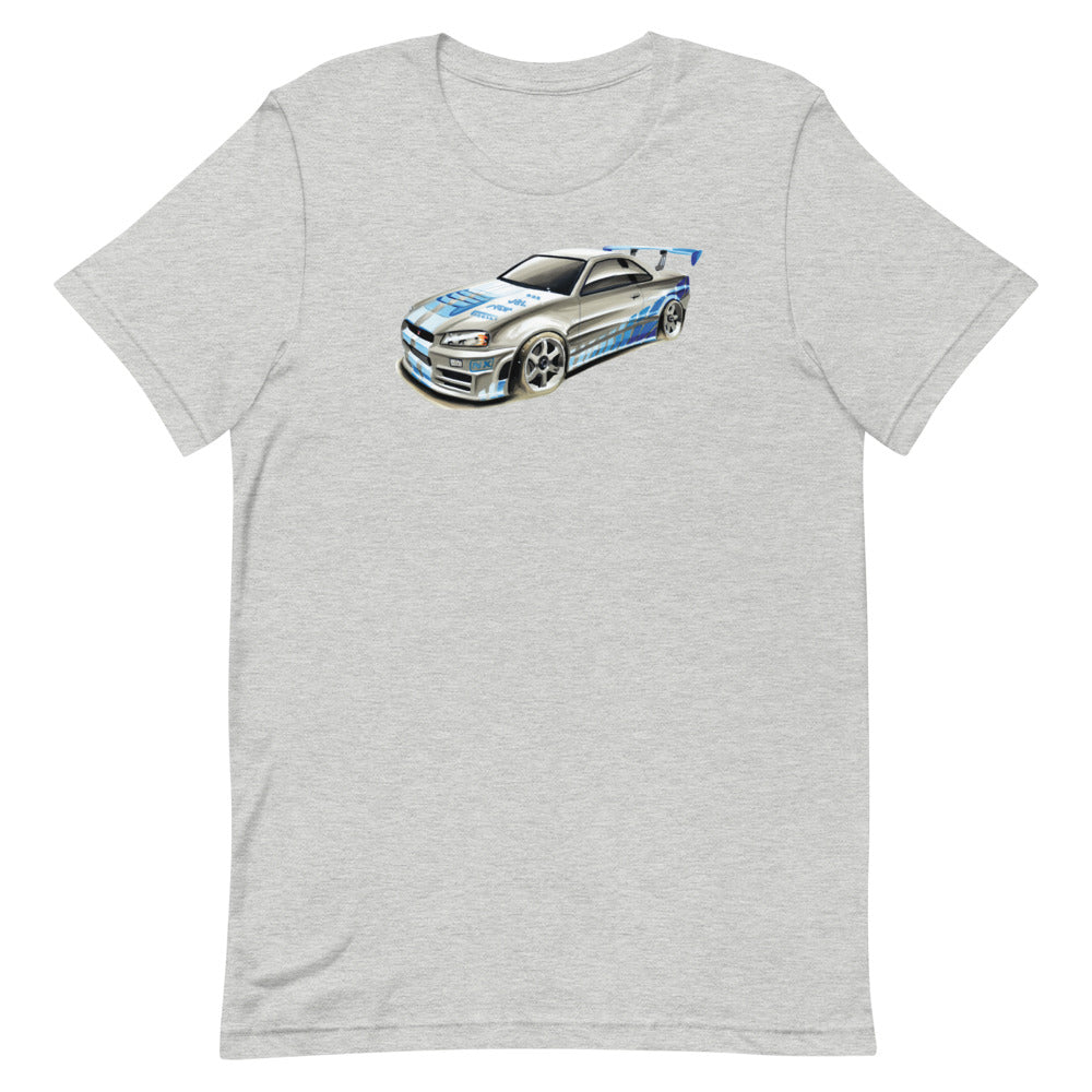 GTR R34 | Short-Sleeve Unisex T-Shirt - Original Artwork by Our Designers - MAROON VAULT STUDIO