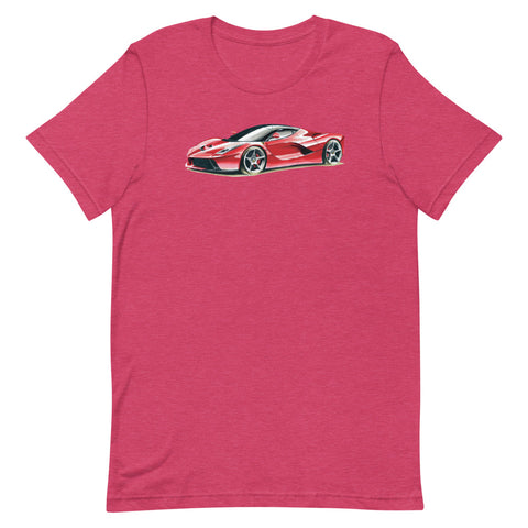 LaFerrari | Short-Sleeve Unisex T-Shirt - Original Artwork by Our Designers - MAROON VAULT STUDIO