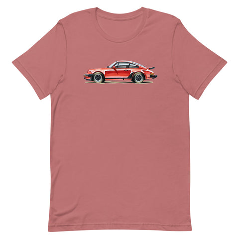 Classic 911 - Red | Short-Sleeve Unisex T-Shirt - Reproduction of Original Artwork by Our Designers - MAROON VAULT STUDIO