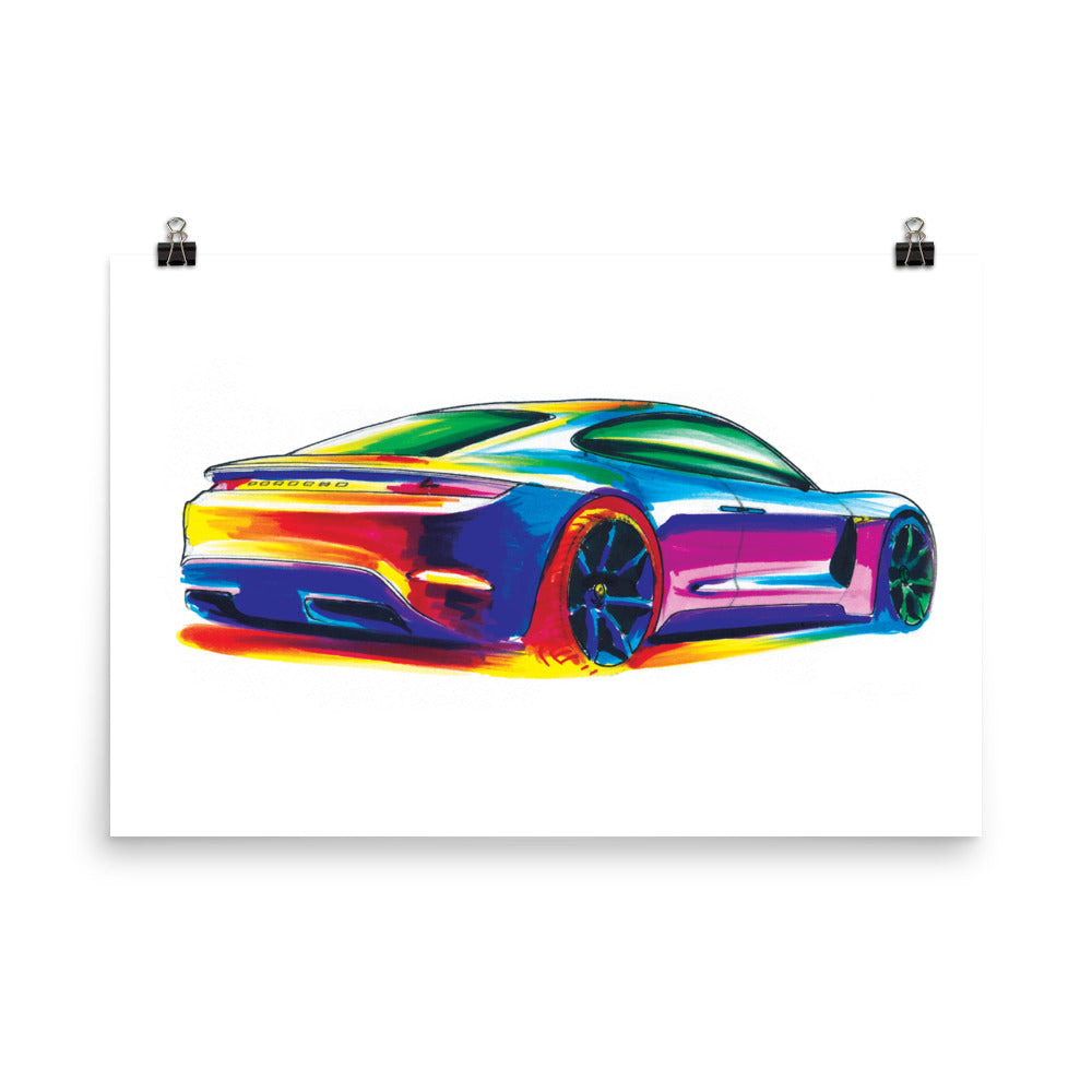 Panamera | Poster - Reproduction of Original Artwork by Our Designers - MAROON VAULT STUDIO