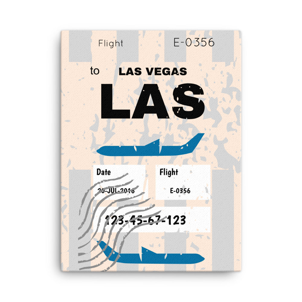 Las Vegas Luggage Tag | Canvas Print - MAROON VAULT STUDIO