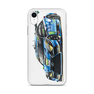 GT3 Race Car [Blue/Black/Green] iPhone Case | Original Artwork by Our Designers - MAROON VAULT STUDIO