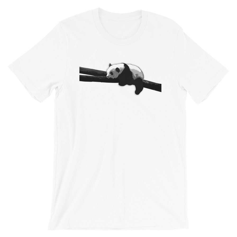 Tired Panda | Short-Sleeve Unisex T-Shirt - MAROON VAULT STUDIO