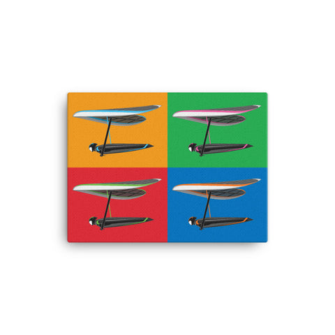 Saturated Four Pilots | Canvas Print - MAROON VAULT STUDIO