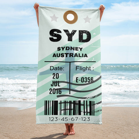 Sydney Luggage Tag | Beach Towel - MAROON VAULT STUDIO