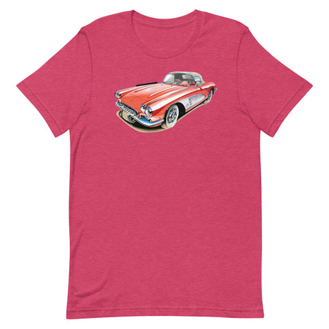 Classic Corvette | Short-Sleeve Unisex T-Shirt - Original Artwork by Our Designers - MAROON VAULT STUDIO