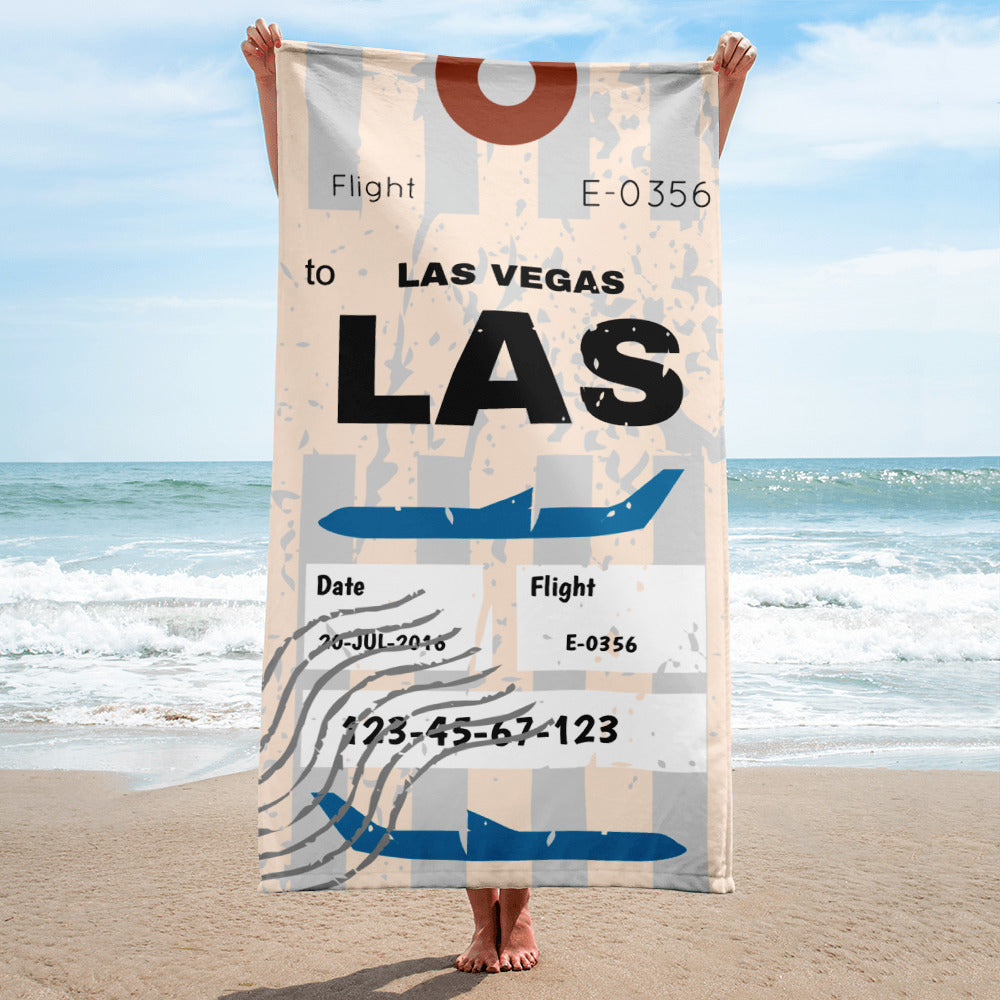 Las Vegas Luggage Tag | Beach Towel - MAROON VAULT STUDIO